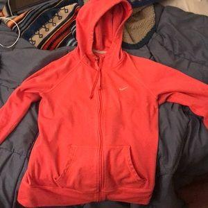 Pink Nike Zip Up Hoodie